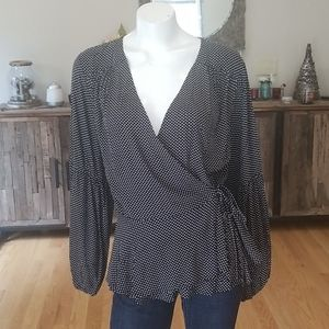 Maeve by Anthropologie wrap blouse